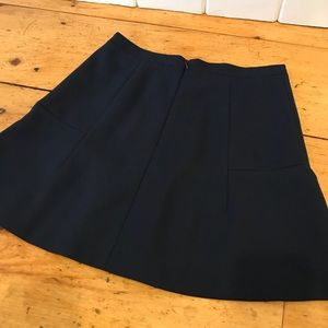 J. Crew Skirts - J.Crew Fluted Skirt in Double Crepe- Navy